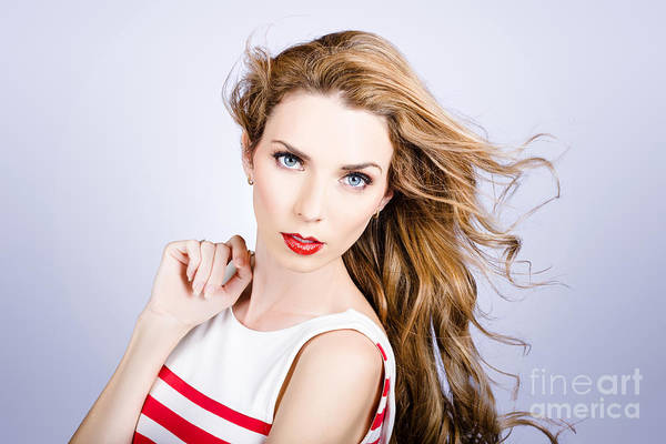 Photograph - Fashion Beauty Girl. Beautiful Woman Long Red Hair by Jorgo Photography - Wall Art Gallery