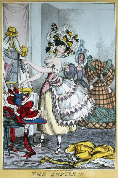 Painting - Fashion Bustle, C1830 by Granger