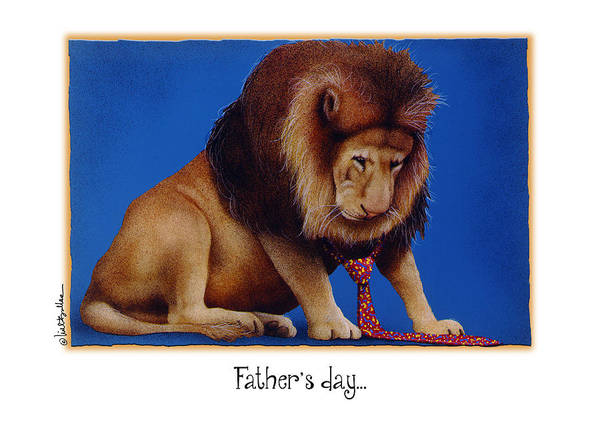 Necktie Wall Art - Painting - Father's Day... by Will Bullas