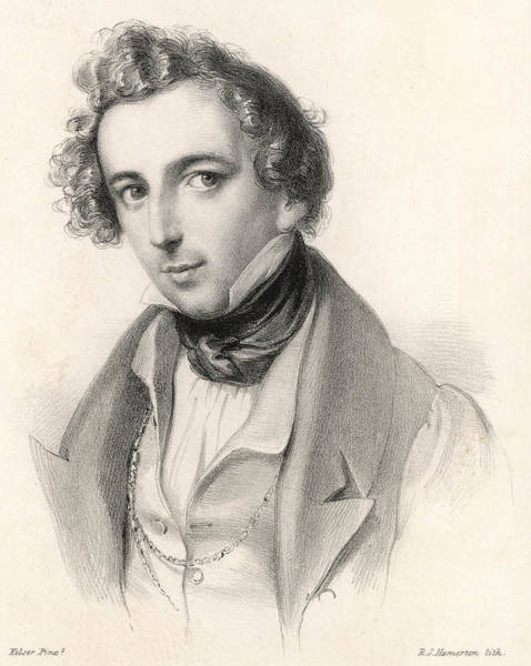Wall Art - Drawing - Felix Mendelssohn  As A Young Man by Mary Evans Picture Library