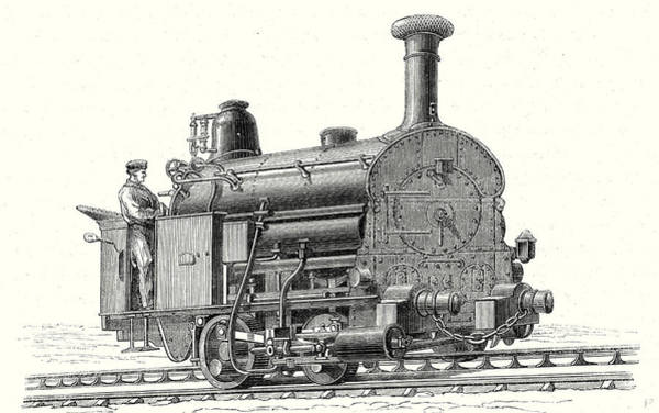 Wall Art - Drawing - Fells Locomotive For The Rail Central Railway by English School