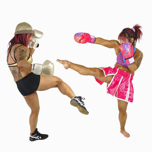 Kickboxing Photograph - Female Kick Boxer  by Ilan Rosen
