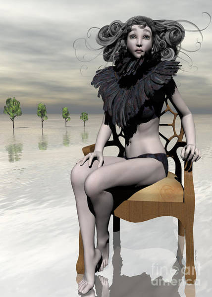 Wall Art - Digital Art - Femme Avec Chaise by Sandra Bauser Digital Art