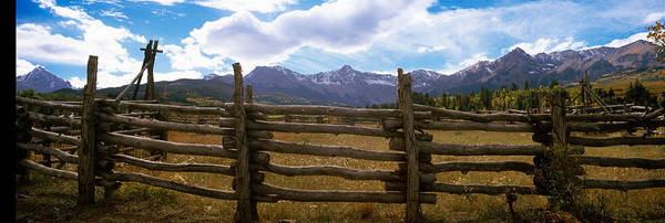 Ridgway Photograph - Fence In A Field, State Highway 62 by Panoramic Images
