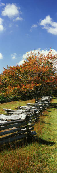 Wall Art - Photograph - Fence In A Park, Blue Ridge Parkway by Panoramic Images