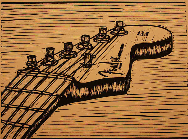 Drawing - Fender Strat by William Cauthern