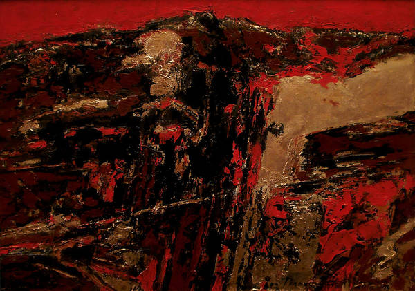 Wall Art - Painting - Feng Shui - Gold Mountain by Vladimir Vlahovic