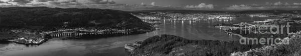 Photograph - Ferrol's Estuary Panorama From La Bailadora Galicia Spain by Pablo Avanzini