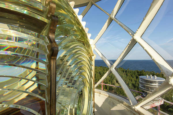 National Lakeshore Wall Art - Photograph - Fesnel Lens Of The Devils Island by Chuck Haney
