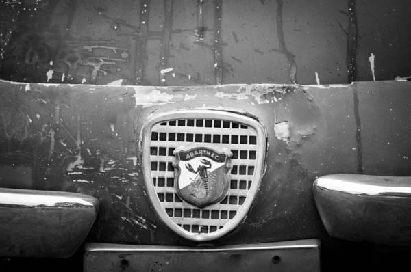 Photograph - Fiat Grille Emblem by Jill Reger