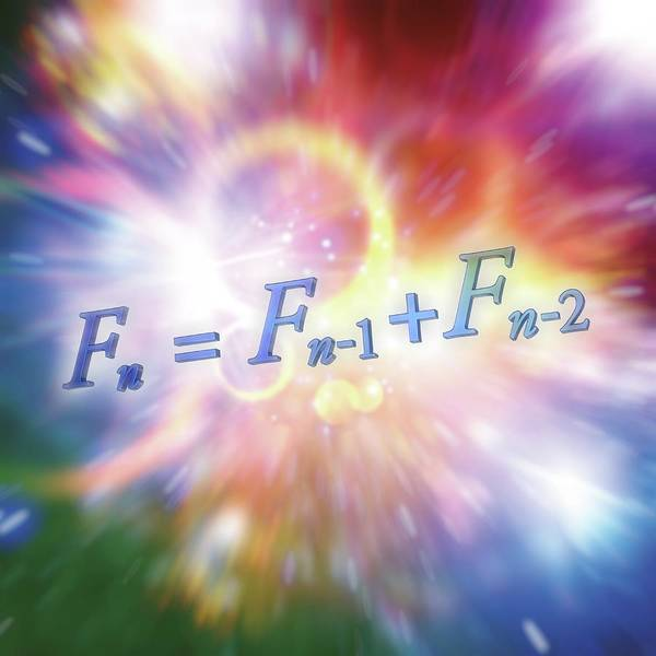 Equation Wall Art - Photograph - Fibonacci Sequence Equation by Alfred Pasieka