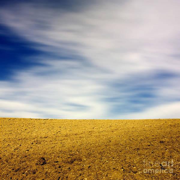 Plow Photograph - Field  by Bernard Jaubert