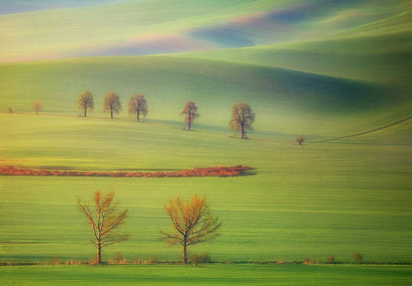 Composition Photograph - Fields by Krzysztof Browko
