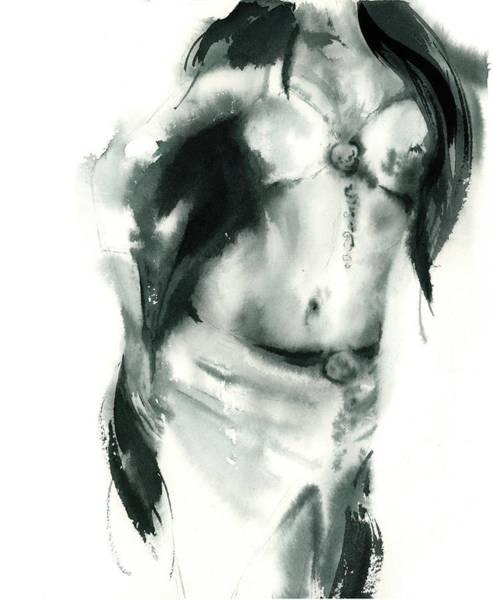 Belly Wall Art - Painting - Figurative II by Sophia Rodionov
