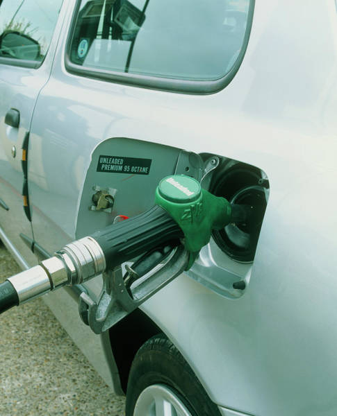 Motoring Photograph - Filling Petrol Tank by Martin Bond/science Photo Library