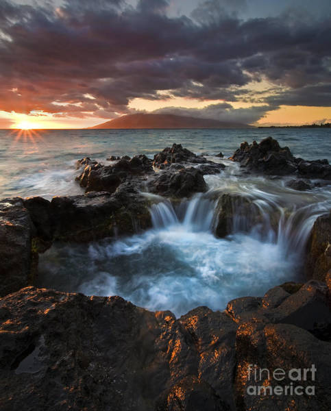 Maui Sunset Wall Art - Photograph - Filling The Cauldron by Mike  Dawson