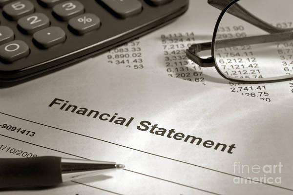 Wall Art - Photograph - Financial Statement On My Desk by Olivier Le Queinec