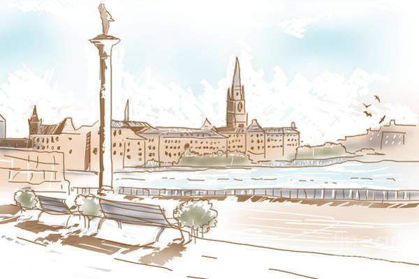 Photograph - Fine Art Landscape Sketch Of Stockholm Sweden  by Jorgo Photography - Wall Art Gallery
