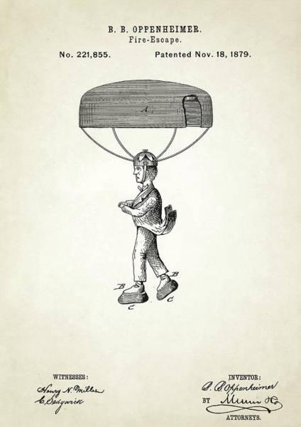 Fire-escape Patent Art Print