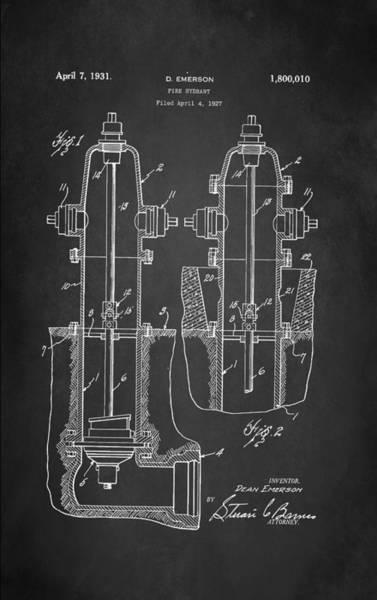 Fire Truck Wall Art - Digital Art - Fire Hydrant Patent 1931 by Patricia Lintner