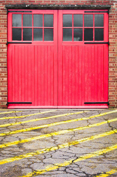 Door Photograph - Fire Station by Tom Gowanlock