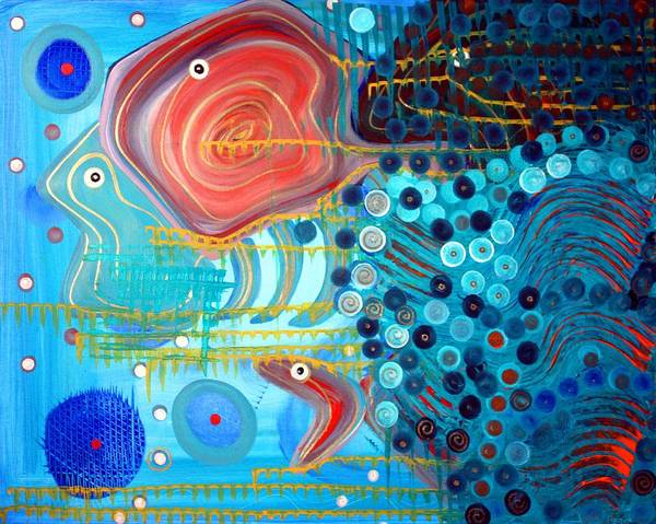 Wall Art - Painting - Fish Exotica by Laura Barbosa