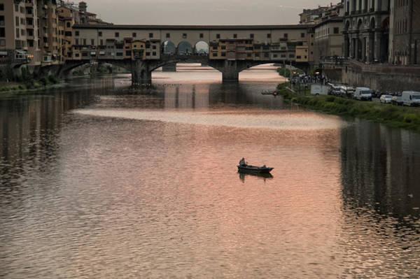 Photograph - Fishing At Sunset by Melany Sarafis