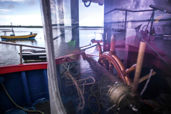 View Through Window Photograph - Fishing Boat by Ktsdesign/science Photo Library