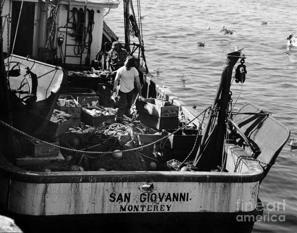 Photograph - Fishing Boat San Giovanni Monterey California Circa 1960 by California Views Archives Mr Pat Hathaway Archives