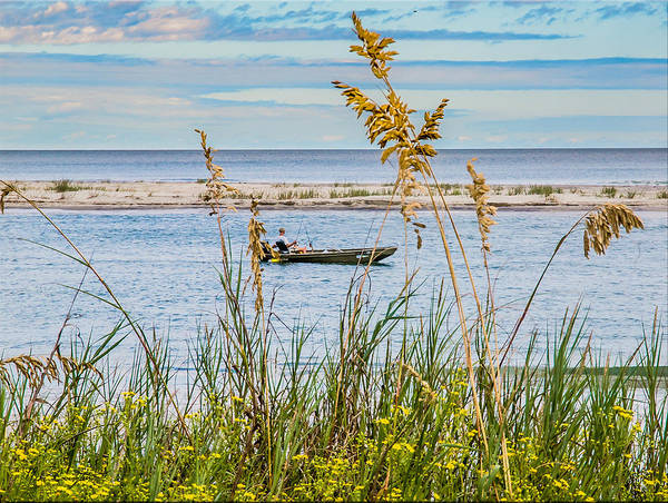 Photograph - Fishing In Pawleys Island Inlet by Mike Covington