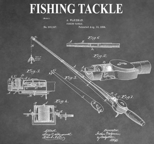 Fishing Pole Digital Art - Fishing Tackle by Dan Sproul