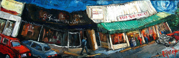 Wall Art - Painting - Five Points Huntsville  Alabama by Carole Foret
