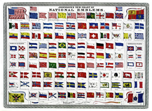 Wall Art - Painting - Flags, 1868 by Granger