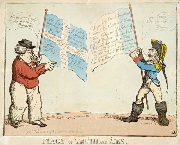 Wall Art - Drawing - 'flags Of Truth And Lies' John Bull by Mary Evans Picture Library
