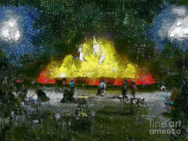 Beach Grass Drawing - Flame by Yury Bashkin