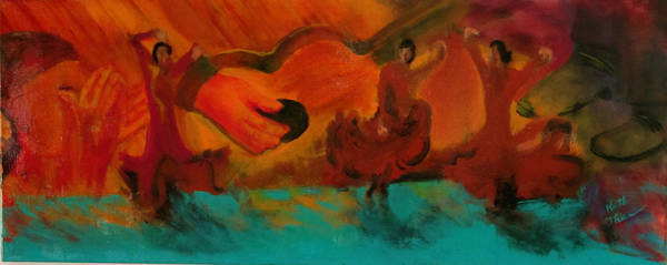 Painting - Flamenco Evening by Keith Thue