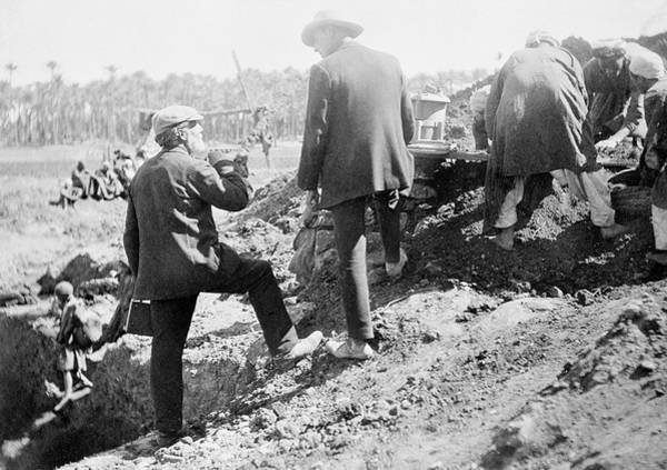 Excavation Photograph - Flinders Petrie In Egypt by Petrie Museum Of Egyptian Archaeology, Ucl
