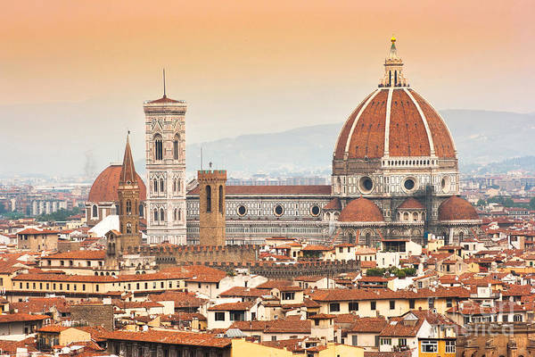 Duomo Di Firenze Wall Art - Photograph - Florence Cathedral At Sunset by JR Photography