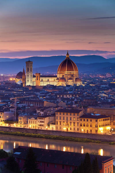 Christianity Photograph - Florence Catherdral Duomo And City From by Richard I'anson
