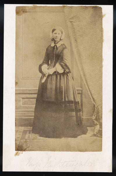 Wall Art - Photograph - Florence Nightingale  Nurse, Hospital by Mary Evans Picture Library
