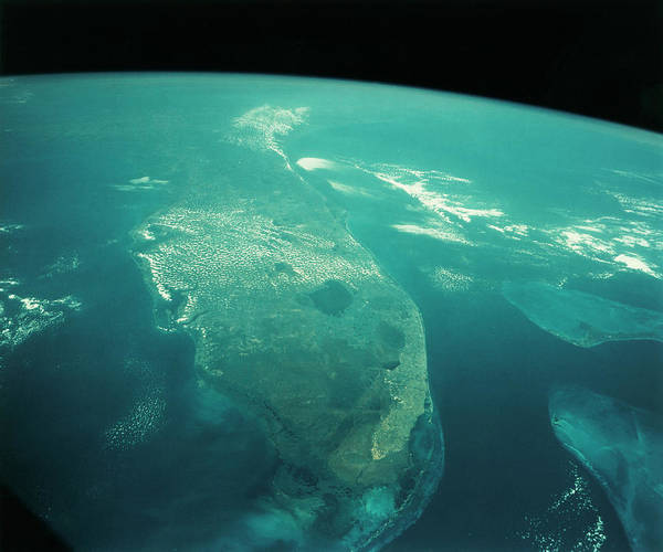 Wall Art - Photograph - Florida From Space by Nasa/science Photo Library