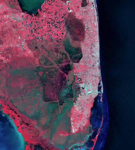 Everglades Photograph - Florida by Nasa/matt Radcliff/usgs Earth Explorer
