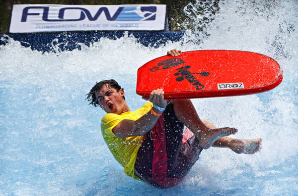 Bodyboard Photograph - Flowboarding Extremes by Donna Pagakis