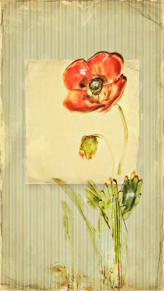 Blume Wall Art - Mixed Media - Flower by Heike Hultsch