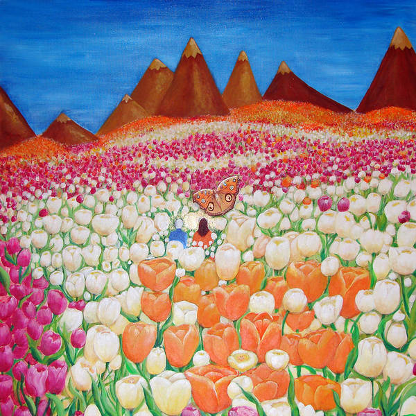 Wall Art - Painting - Flowers And Fields Alive With Thy Joy by Ashleigh Dyan Bayer