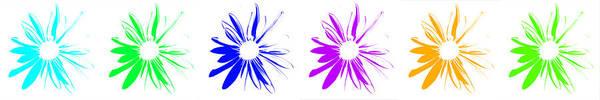 Flowers On White Art Print