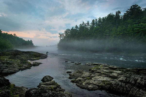Wall Art - Photograph - Fly Fishing On The Kennebec River, Maine by Joe Klementovich