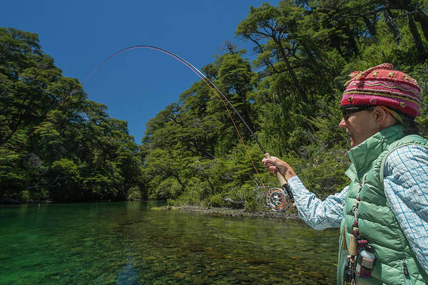 Wall Art - Photograph - Fly Fishing Patagonia, Argentina by Mark Lance