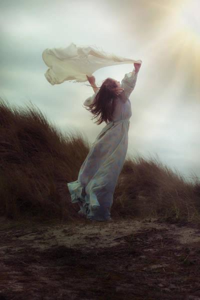Beautiful Woman Photograph - Flying by Joana Kruse