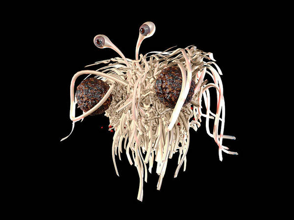 Creationism Wall Art - Photograph - Flying Spaghetti Monster by Christian Darkin